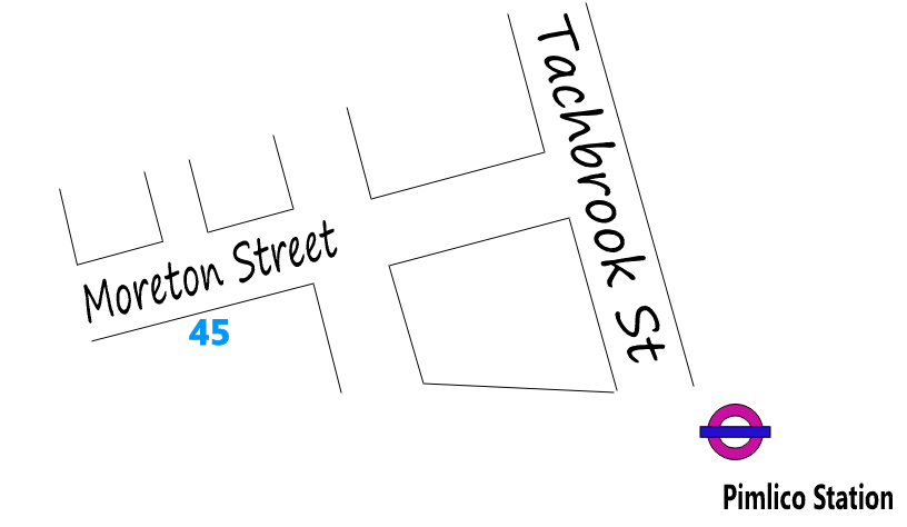 Map showing location of 45 Moreton Street.